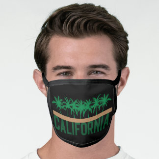 California Palm Tree Silhouettes Face Mask