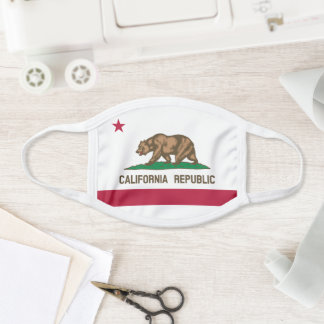 California Republic Flag Design Face Mask