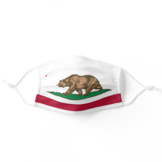 California Republic state flag Adult Cloth Face Mask