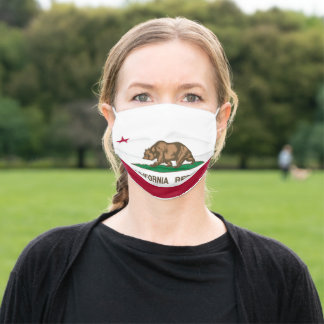 California State Flag Adult Cloth Face Mask
