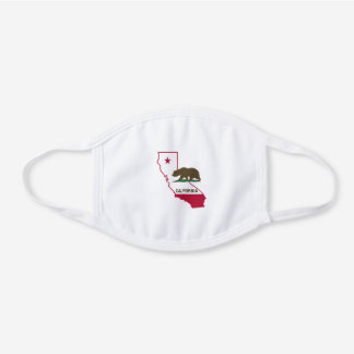California State Flag Map Face Mask
