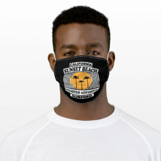 California Sunset Beach Unlimited Adventure Surfin Adult Cloth Face Mask