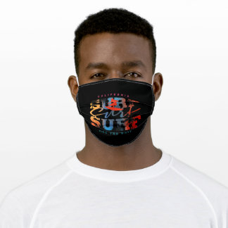 California Surf Ride The Wave Adult Cloth Face Mask