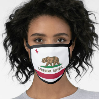 Californian flag, American state flag Face Mask