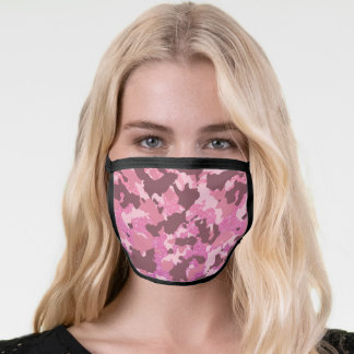 Camo Camouflage  Pink For her Glitter Face Mask