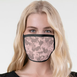 Camo Camouflage Rose Gold Pink For her Face Mask