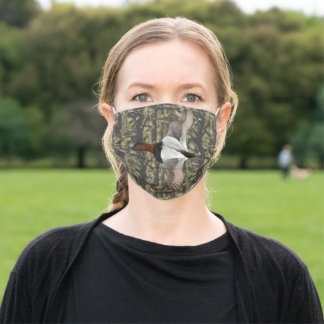 Camo Duck Hunting Canvasback Cool Men's Adult Cloth Face Mask