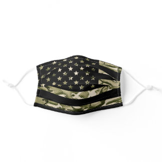 Camouflage  American flag Patriotic Adult Cloth Face Mask