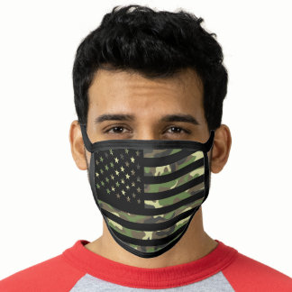 Camouflage American USA Flag Camo Pattern Face Mask