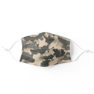Camouflage Green Camo Tan Desert Woodland Adult Cloth Face Mask