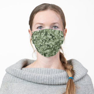 Camouflage Green Khaki Green Adult Cloth Face Mask