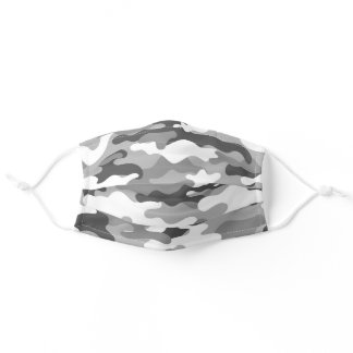 camouflage grey adult cloth face mask