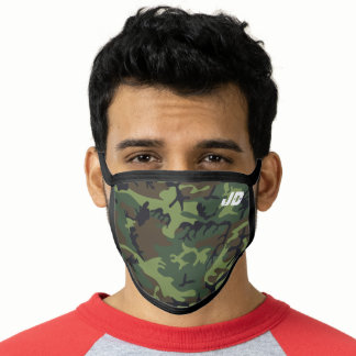 Camouflage Monogram Men's Face Mask