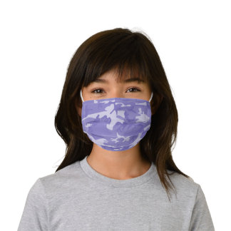 Camouflage Purple Kids' Cloth Face Mask