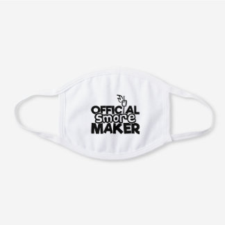 Camping Official S'more Maker RV Camper White Cotton Face Mask