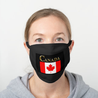 CANADA BLACK COTTON FACE MASK