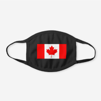 Canada Flag Canadian Patriotic Black Cotton Face Mask