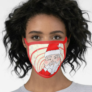 Candies and Cookies Funny Christmas Santa Face Mask