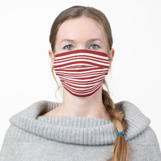 Candy Cane Patterns Red White Trendy 2020 Stylish Adult Cloth Face Mask