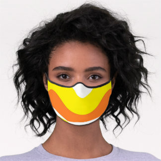 Candy Corn Colors Face Mask Orange White Yellow