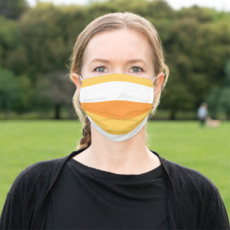 Candy Corn Stripes Adult Cloth Face Mask