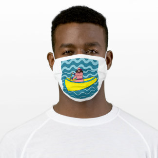 Canoe Reto Nature Water Adult Cloth Face Mask