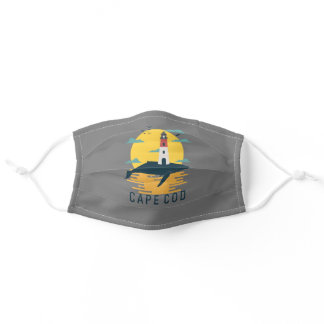 Cape Cod Nauset Lighthouse Whale Massachusetts Adult Cloth Face Mask