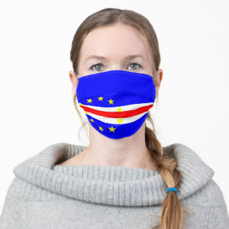 Cape Verde flag country flag symbol nation ethnic Adult Cloth Face Mask