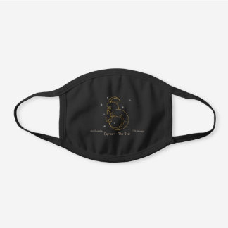 Capricorn Zodiac Goat brown black Cotton Face Mask