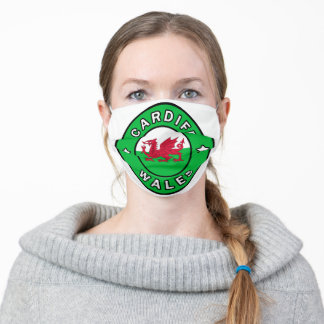 Cardiff Wales Adult Cloth Face Mask