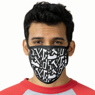 Carpentry Woodwork Tools Of The Trade Patterned Face Mask