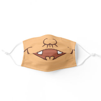 Cartoon, daddy's nose (nose hair) and mouth adult cloth face mask