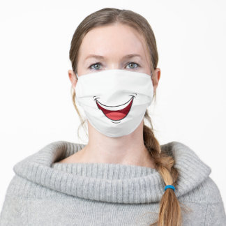 Cartoon Happy Smile Mouth Adult Cloth Face Mask