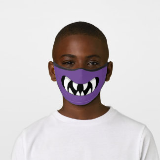 Cartoon Monster Mouth Purple Kid Premium Face Mask