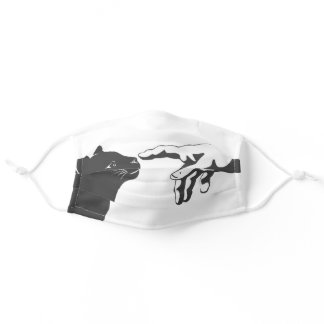 Cat and the god hand adult cloth face mask