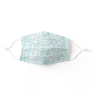 Cat Fest - Aqua Cloth Face Mask