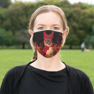 Cat From Hell Adult Cloth Face Mask