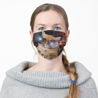 Cat Glasses - sunglasses cat - cat space Adult Cloth Face Mask