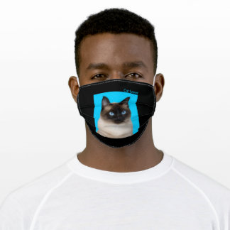 Cat Lovers Siamese Cat Adult Cloth Face Mask