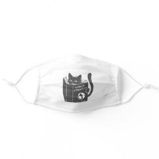 Cat world domination adult cloth face mask