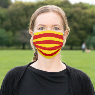Catalonia Flag - La Senyera fashion /Official Adult Cloth Face Mask