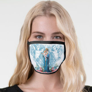 Catholic Religious Blessed Virgin Mary with Jesus Face Mask