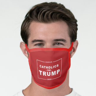 CATHOLICS FOR TRUMP 2020 FACE MASK