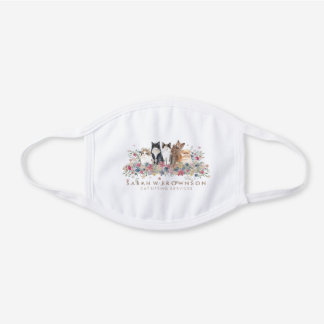 Cats Covid 19 Maine Coon Scottish fold Persian White Cotton Face Mask