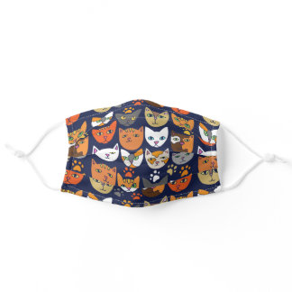 Cats Everywhere Cat Person Adult Cloth Face Mask