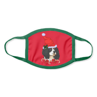 Cavalier King Charles Christmas Face Mask