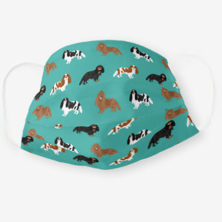 Cavalier King Charles Spaniel turquoise Cloth Face Mask