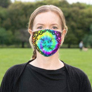 Celt Pipers Spiral Tie Dye Face Mask