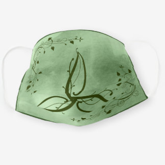Celtic Green Irish Triquetra Trinity Knot Leaves Cloth Face Mask