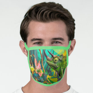 Chameleon Lizard CHANGLING Face Mask